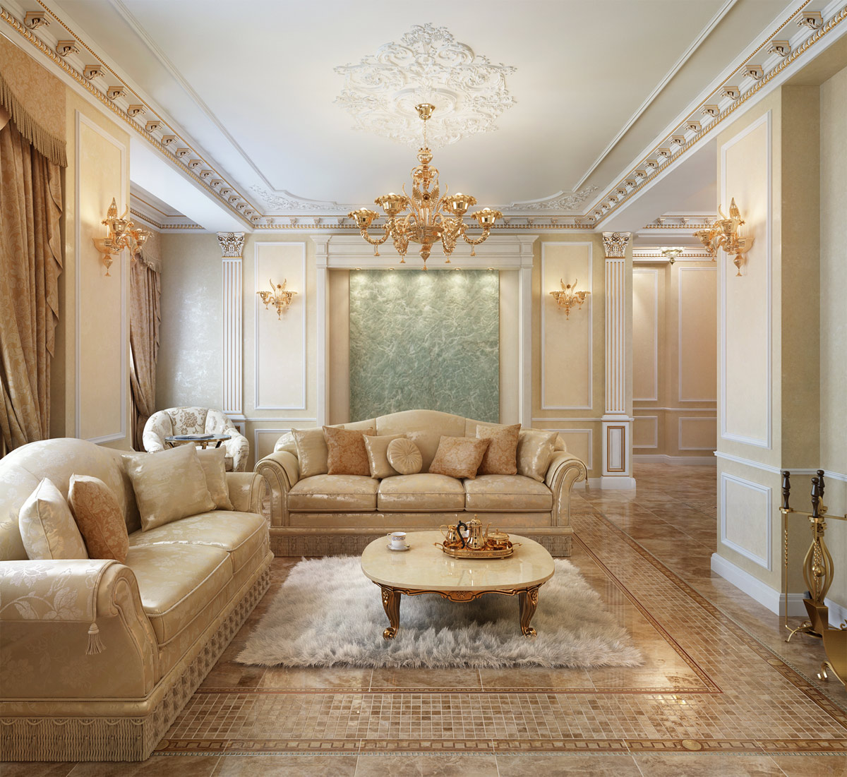 красивый классический дизайн квартир фото