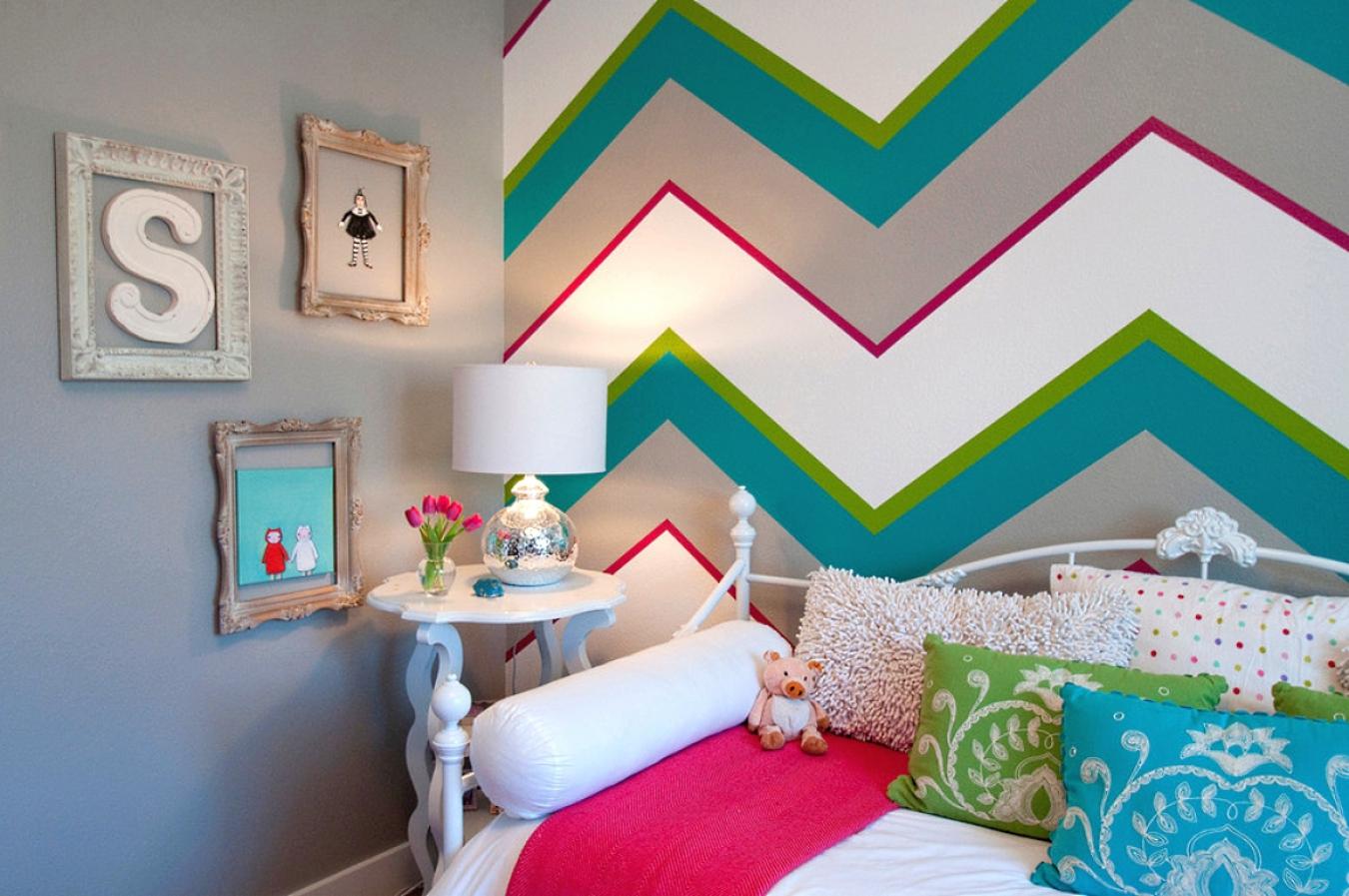 разноцветные стены